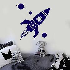 Vinyl Wall Decal Rocket Space Planet Kids Room Stickers Mural (ig4153)