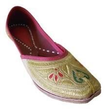 Jutti US 6-10 Ethnic Flip-Flops Mojari Women Shoes Leather Handmade Ballet Flats