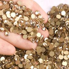 Crystal Golden Shadow Non Hotfix Flatbacks Crystal Rhinestones Gold Stones Beads