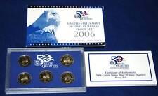 2006  U.S. Mint Made STATE QUARTERS Proof Set in original BLUE box