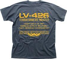 LV426 Terraformers wanted WEYLAND  ALIENS PROMETHEUS charcoal t-shirt FN9493