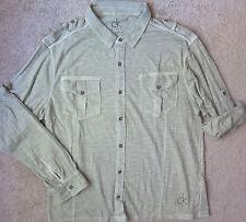 "CALVIN KLEIN ""ONE""  (Light Grey) PREMIUM Shirt Men's   -  NWT  $59.50"