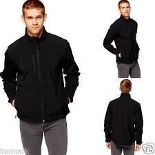 801 Men's Waterproof Sport Zip Front Pockets Black Jacket Size S M L XL