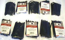 "1000 GOLIATH INDUSTRIAL 4"" BLACK WIRE CABLE ZIP TIES NYLON TIE WRAPS WHOLESALE"