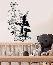 Vinyl Wall Decal Mushroom Fairy Tale Nursery Fantasy Stickers (794ig)