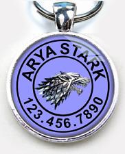 Game of Thrones Stark Wolf Arya Stark Lavender custom pet tag dog cat