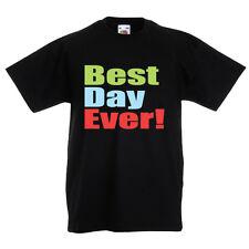 Best Day Ever T-Shirt Kids Girls Boys 1st Birthday Slogan Tee Top Gift Bday