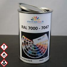 1 Liter MATTER Kunstharz-Alkydharzlack RAL 7000 - 7047 Spritzfertig, Streichbar