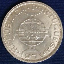 MACAO 5 PATACAS ARGENTO 1971 #511