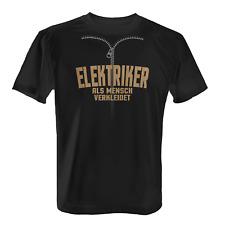 Elektriker Herren T-Shirt Fun Shirt Mensch Verkleidung Kostüm Karneval Fasching