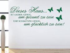 X107 WANDTATTOO Spruch - Dieses Haus glücklich Wandsticker Sticker Wandaufkleber