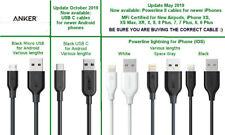 Anker PowerLine Micro USB, USB C Android & Lightning Powerline, Powerline ll IOS