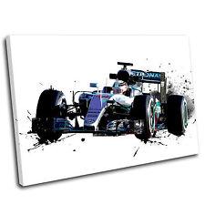 Lewis Hamilton Formula One Canvas Splatter Art Print  - Gallery Grade