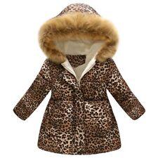 a113d058b98f6 Toddler bébé filles garçons hiver Leopard veste chaude Hooded manteau  coupe-vent