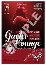 Garter Lounge (7) , Retro Burlesque  advertising Poster reproduction.
