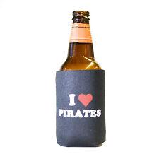 6 Lot I Heart Pirates Humor Pirate Beer Pop Can Koozie Koolie Cooler Insulator