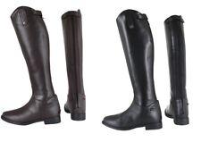 Horka enfants cuir équitation montrant/concours bottes larges/standard mollet