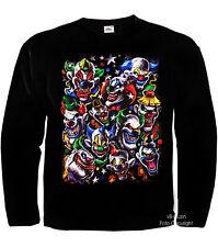 Payaso Circo Joker Variete Traje Laughing Clowns camiseta calavera 4050 LS