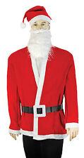 MENS ECONOMY SANTA CLAUS FATHER CHRISTMAS SUIT FANCY DRESS COSTUME OUTFIT