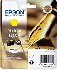 CARTOUCHE EPSON NEUVE 16XL JAUNE / stylo plume t 16 t16 16 xl t1634 workforce