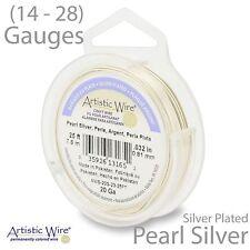 Pearl Silver Tarnish Resistant Artistic Wire - Silver Plate Wire - (14-28 GA)