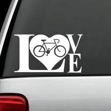 E1062 Bicycle LOVE Decal Sticker Bike Cyclist Cycling Mountain BMX Gift Art