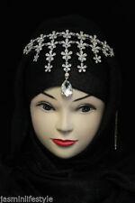 Damas Nupcial Graduación Diamante Cristal Tiara Hijab Bisutería Cabeza Banda de Cabello