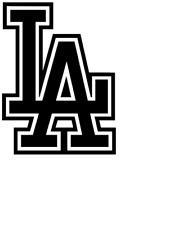 "Los Angeles Dodgers ""LA""  Decal / Sticker Die cut"