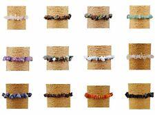 """Chipstone Gemstone Bracelets Elasticated Bracelet 7"""" & Jewellery Gift boxes"""