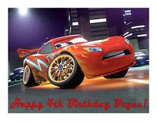 Lightning McQueen Cars 2 edible cake image cake topper