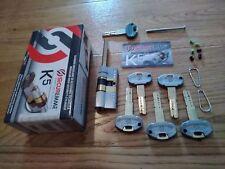 SECUREMME K5 Cilindro Europeo Codolo Rasabile Chiavi 5+1 anti bumping INOX CROMO