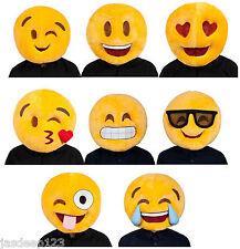 Smiley Face Big Mascot Head Fancy Dress Mask Funny Hat Adult Joke Yellow Emoji