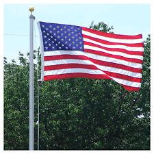 18 FT. STEEL FLAGPOLE W/ 3'x5' U.S.FLAG  3'x5' STATE FLAG &(2) CAR ANTENNA FLAGS