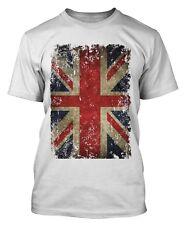 Union jack t-shirt effet vieilli grunge vintage drapeau uk union j grande-bretagne
