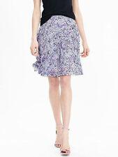 NWT BANANA REPUBLIC New $98 Women Pleated Blue Floral Skirt Sz 8