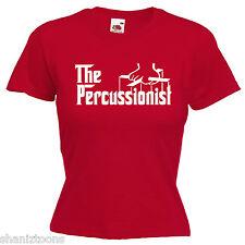 Percussionist Ladies Lady Fit T Shirt 13 Colours Size 6 - 16