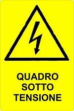 Cartello segnaletica pericolo QUADRO SOTTO TENSIONE in alluminio 330x500
