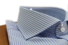 Camicia uomo Bagariny sartoriale cotone stretch slim fit col. rigato 2 cielo Mad