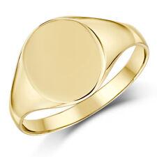 femmes Chevalière 9 Ct Or jaune forme ovale