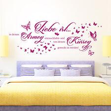 Wandtattoo Liebe ist in deinen Armen einzuschlafen.. | Spruch Paare Schlafzimmer
