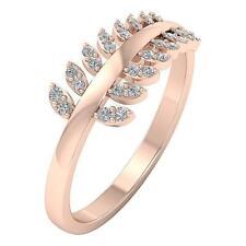 Engagement Wedding Natural Diamond Ring I1 H 0.25Carat 14Kt Rose Gold Prong Set