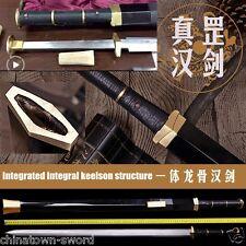 Octahedron Heavenly Spirit swords Han Jian High manganese steel blade sharp#0056