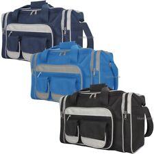 Mens Gym Sports Holdall Overnight Weekend Travel Small Medium Duffle Bag 22 Ltr