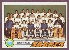 1977 78 OPC O PEE CHEE HOCKEY 73 BUFFALO SABRES TEAM NM