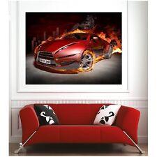 Affiche poster voiture sport en feu51832201
