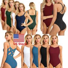 US _Womens Girl Ballet Dance Leotard Unitard Gymnastics Skate Bodysuit Dancewear
