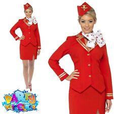 Ladies Trolley Dolly Costume Air Stewardess Hostess Cabin Crew Fancy Dress