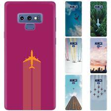 dessana Flugzeuge Schutz Hülle Case Handy Tasche Cover für Samsung Galaxy A J