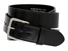 "Big & Tall Durable Genuine Leather Mens Uniform Work Utility Belt 1-1/2"" Wide"