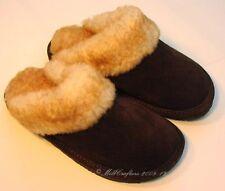New Womens Ladies Sheepskin Scuff Slipper Dark Chocoate Size 5 6 7 8 9 10 N0893